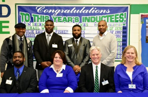 The 2017-2018 Winton Woods Athletic Hall of Fame inductees.