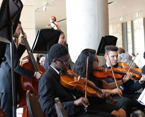 The Winton Woods High School Orchestra.  Photo by Drew Jackson.