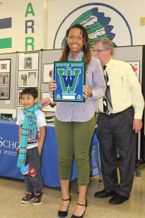 he Special Award winner Naomi Hall at Winton Woods High School's 2019 CSAC  Banquet.