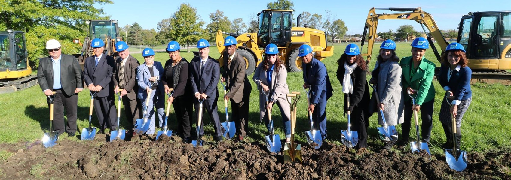 Ground breaking for the 7-12 campus