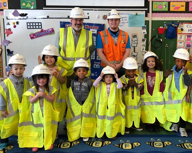 "Skanska USA and  Megen ConstructionVolunteer for  ""Read Across America"" Day  at Winton Woods Preschool"