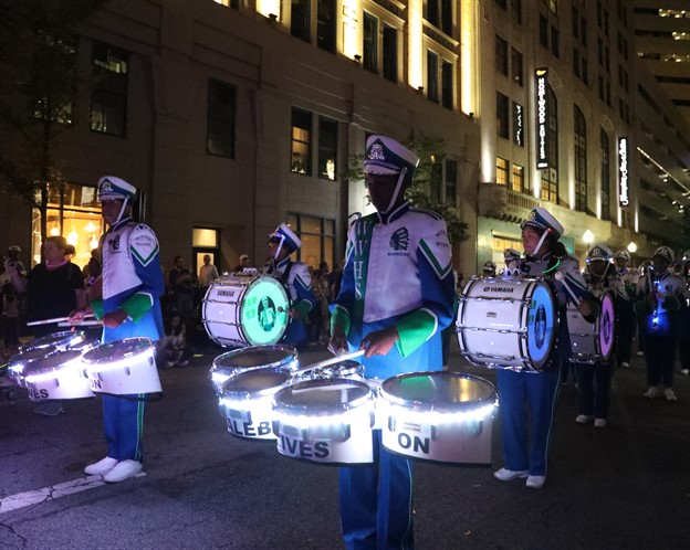 marching band in the blink parade