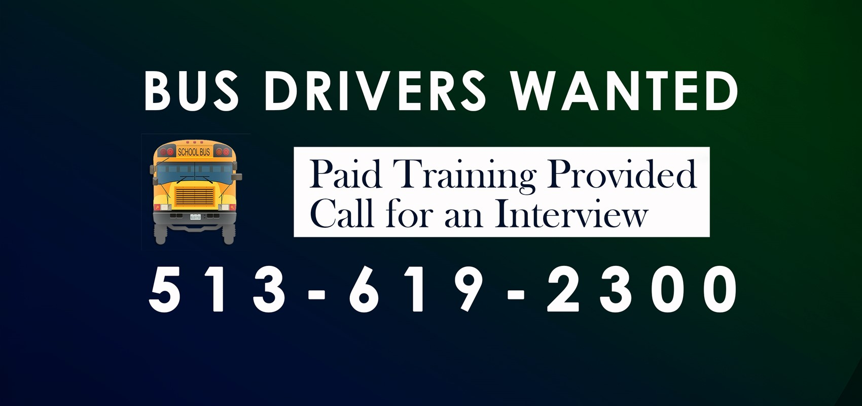 Bus Drivers Wanted Call a513.619.2300