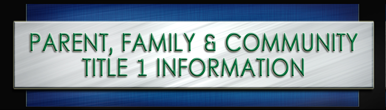 parent, family and community title 1 information header