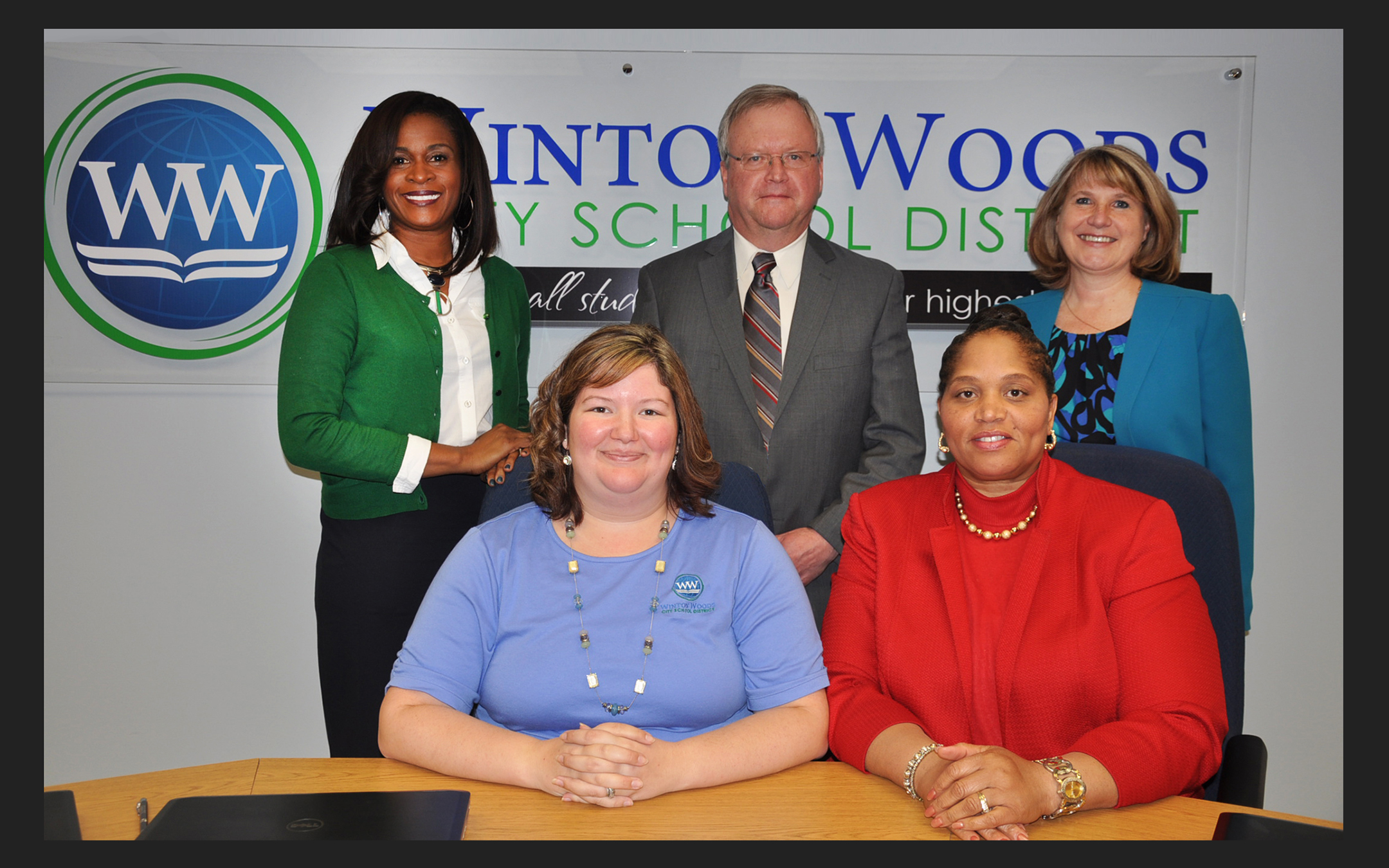 Members of the Winton Woods board of education