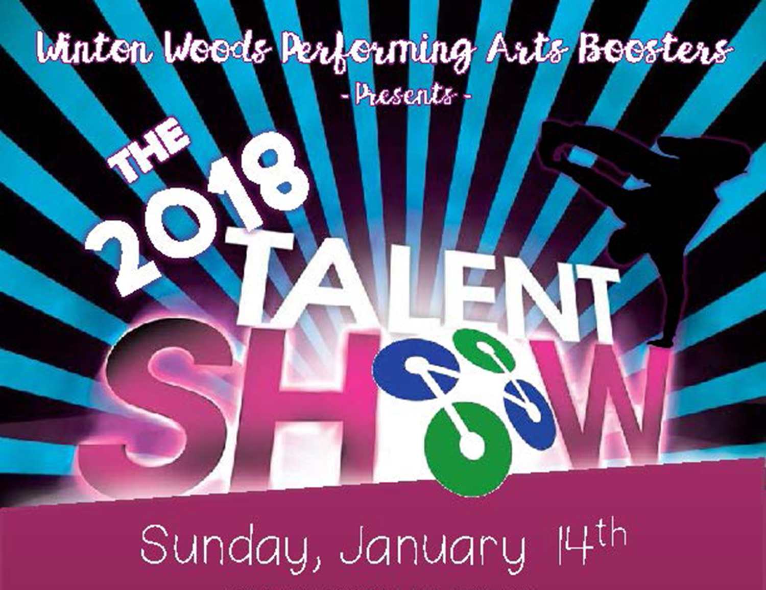Performing Arts Boosters 2018 Talent Show  Logo