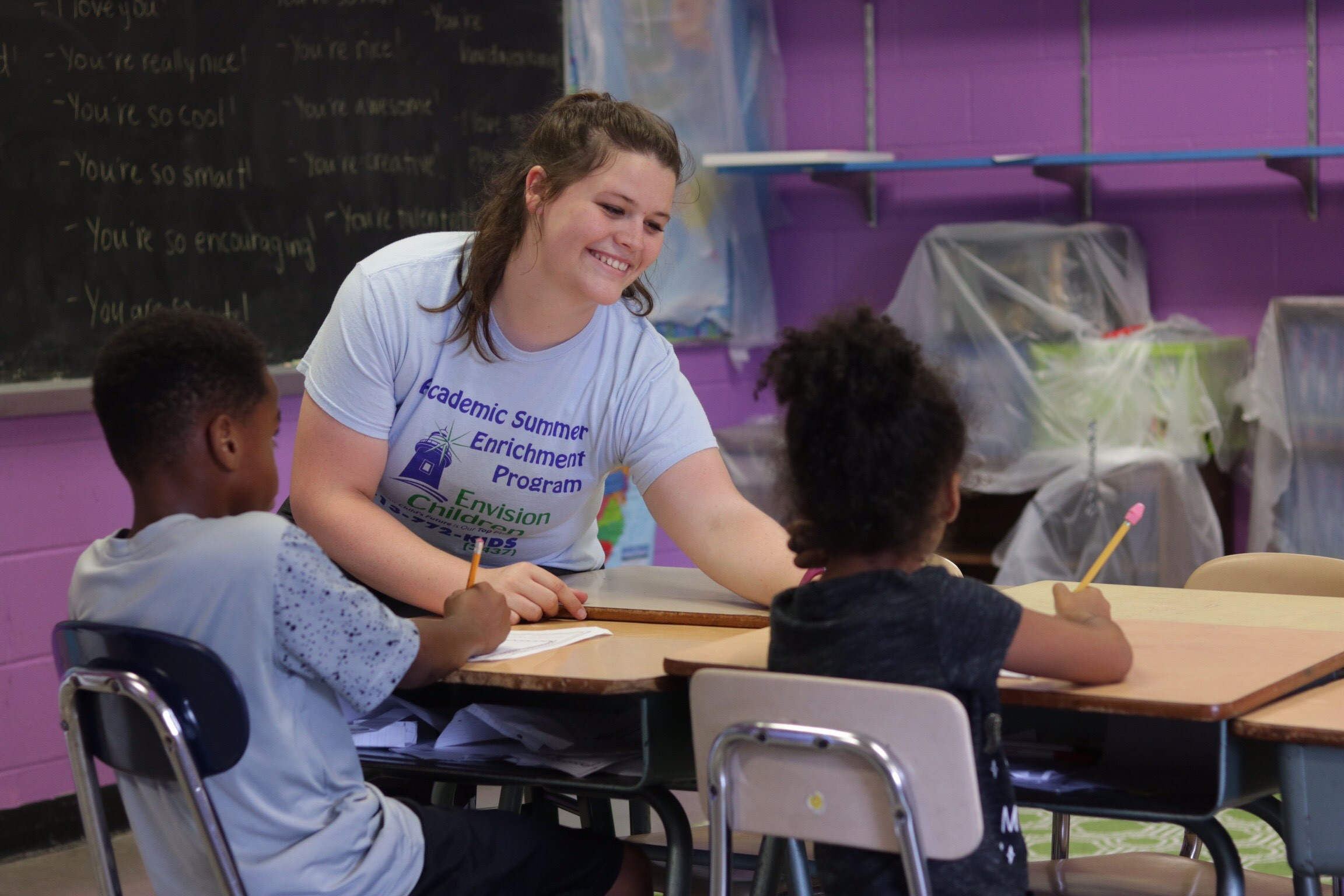 Envision Children is now enrolling for the 2019 summer academic enrichment program. Photo by Drew Jackson.