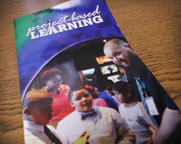The 2017 Project-based learning brochure. Photo by Drew Jackson.