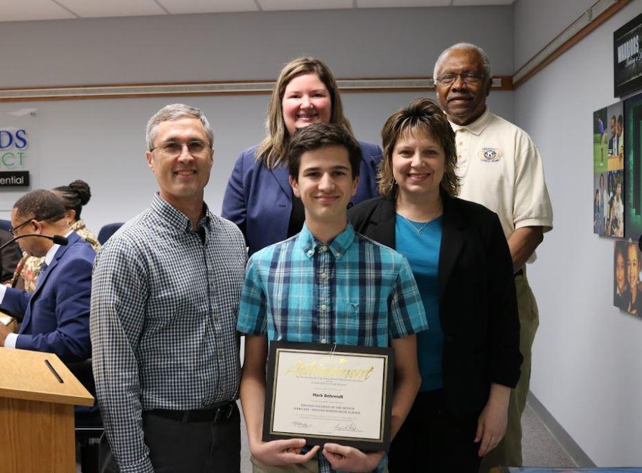 February's Gold Star-Kiwanis Student of the Month Mark Behrendt. Photo by Drew Jackson.