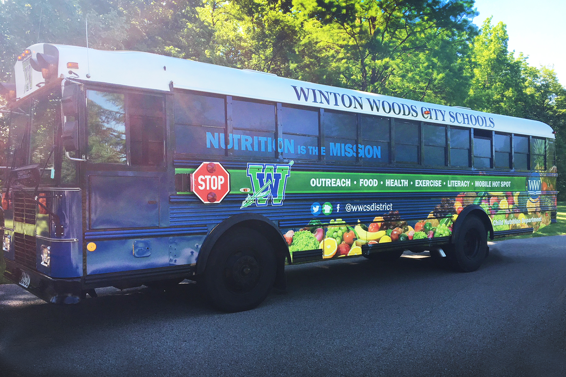 Nutrition is the mission bus