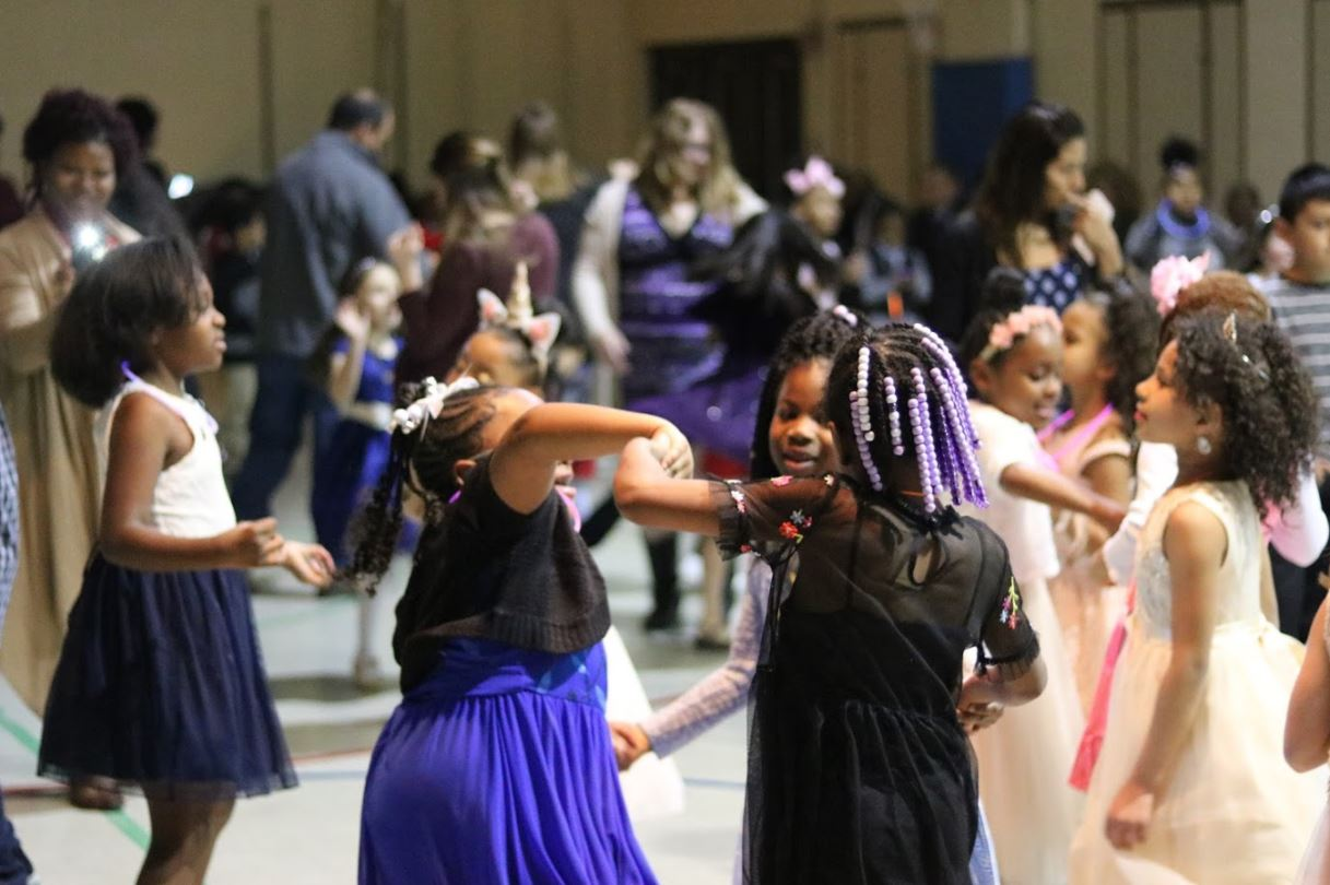 Winton Woods Primary North students dance to music together.  Photo by Drew Jackson.
