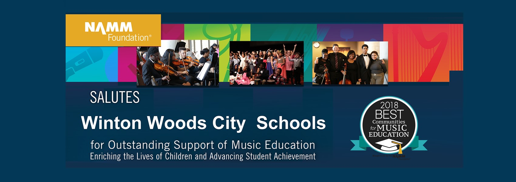 WWCS was designated as one of the best communities for music education for 2018