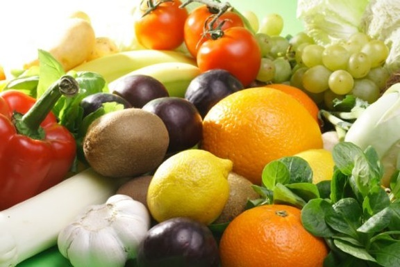 picture of fruits and veggies