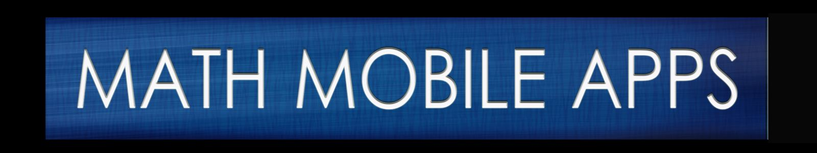 math mobile apps header